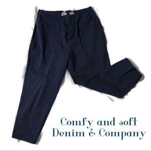 Denim & Company dark blue jeans